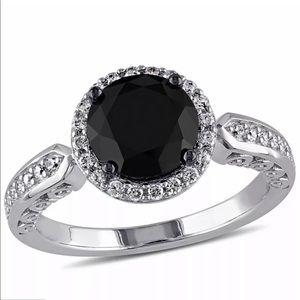 #3 Woman Round Cut 2.35ct Black Sapphire 925 Ring